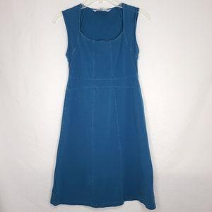 Athleta Blue Small Sleeveless Organic Cotton Dress